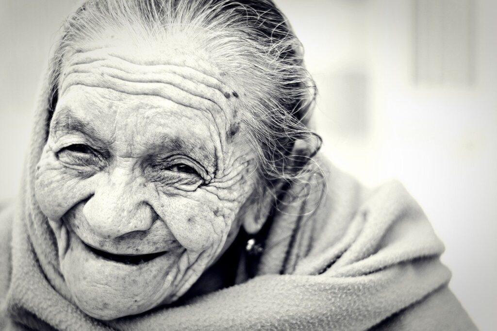 woman, old, senior